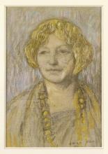 Aman-Jean, Ritratto di donna con la collana | Portrait de femme au collier | Portrait of a woman with necklace