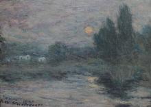 Aman-Jean, Stagno al chiaro di luna | Étang au clair de lune | Pond in the moonlight