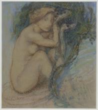 Aman-Jean, Studio di donna nuda o La sorgente | Étude de femme nue ou La source | Study of nude woman or The source