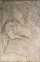 Aman-Jean, Studio di una signora seduta   Étude d'une dame assise   Study of a seated lady