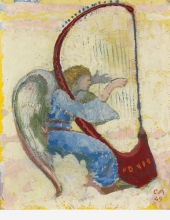 Amiet, Angelo che suona l'arpa  