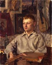 Amiet, Giovanni Giacometti nello studio a Parigi | Giovanni Giacometti im Atelier in Paris