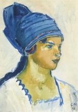 Amiet, Greti con il turbante   Greti mit Turban