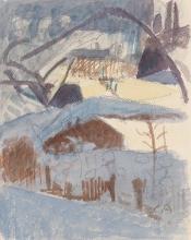 Amiet, Inverno blu   Blauer Winter