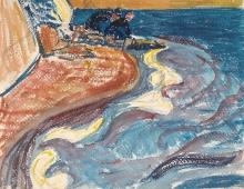 Amiet, Lavandaie sulla riva | Wäscherinnen am Strand