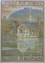 Amiet, Progetto di manifesto: Kloster St. Georgen, Stein am Rhein   Plakatentwurf: Kloster St. Georgen, Stein am Rhein
