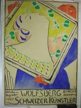 Amiet, Progetto di manifesto: Kunstsalon Wolfsberg Zürich, Schweizer Künstler 1921   Plakatentwurf: Kunstsalon Wolfsberg Zürich, Schweizer Künstler 1921