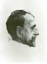 Amiet, Ritratto di Ernst Kreidolf di profilo | Bildnis Ernst Kreidolf im Profil