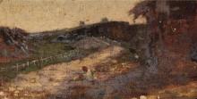 Avondo, Figurina nel paesaggio [retro]