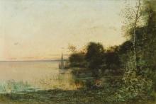 Vittorio Avondo, Paesaggio con lago | Landscape with lake