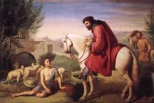 Cristiano Banti, Domenico figlio di Pacio colono trovato a disegnare le pecore dal suo padrone Beccafumi, dal quale ne ebbe poi il cognome