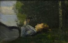 Cristiano Banti, Ragazza sotto un albero | Girl under a tree