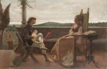 Cristiano Banti, Scena romantica