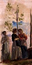 Cristiano Banti, Tre donne in piedi