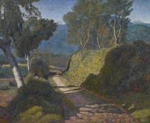 Angelo Barabino, Paesaggio con strada campestre