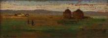 Bartolena Giovanni, Paesaggio con pagliai.jpg