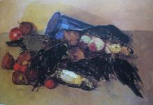 Bartolena, Natura morta con frutta, cacciagione e vasetto blu.png