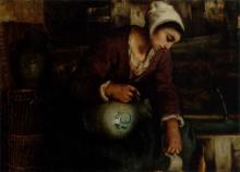 Bastien-Lepage (attribuito a), Donna al pozzo.jpg