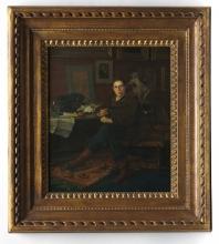 Bastien-Lepage, Albert Wolff nel suo studio   Albert Wolff dans son étude   Albert Wolff in his study