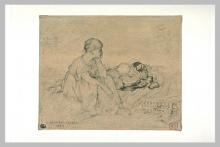 Bastien-Lepage, Donna seduta nell'erba.jpg