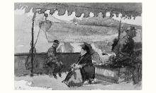 Bastien-Lepage, Figure sedute sulla passeggiata di un battello.png