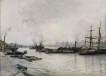 Bastien-Lepage, Il Tamigi a Londra | La Tamise à Londres | The Thames in London