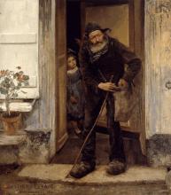 Jules Bastien-Lepage, Il mendicante   Tiggeren   Le mendiant   The beggar