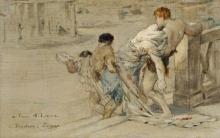 Bastien-Lepage, La rimozione del corpo di Cesare.png