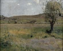 Bastien-Lepage, Paesaggio per La fienagione.jpg
