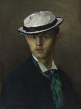 Bastien-Lepage, Ritratto di un uomo con cappello di paglia.jpg