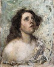 Leonardo Bazzaro (attribuito a), Figura di donna