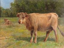 Leonardo Bazzaro (attribuito a), Mucche al pascolo | Kühe auf der Weide