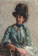 Leonardo Bazzaro, Aristocrazia (Ritratto della moglie, nobildonna Corona Douglas Scotti)