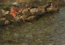 Leonardo Bazzaro, Bagnanti sulla riva