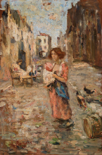 Leonardo Bazzaro, Calle delle merlettaie