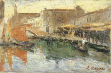 Leonardo Bazzaro, Canale a Chioggia | Canal in Chioggia