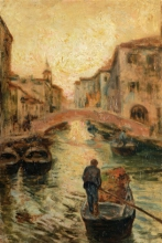 Leonardo Bazzaro, Canale veneziano
