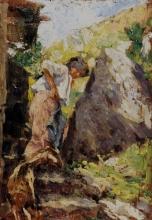 Leonardo Bazzaro, Contadina con la capretta