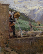 Leonardo Bazzaro, Fanciulle alla fonte [dettaglio]