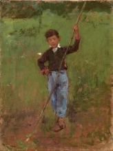 Leonardo Bazzaro, Giovane pastore