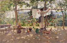 Leonardo Bazzaro, In campagna