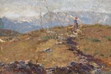 Leonardo Bazzaro, La pastorella in montagna