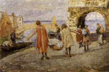 Leonardo Bazzaro, Lavandaie a Chioggia
