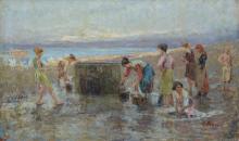 Leonardo Bazzaro, Lavandaie al pozzo