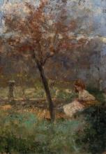 Leonardo Bazzaro, Lettrice in giardino
