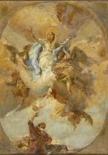 Leonardo Bazzaro, Madonna con angeli