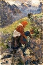 Leonardo Bazzaro, Madre e figlia alla fontana