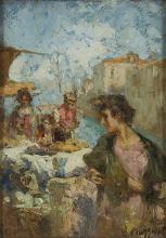 Leonardo Bazzaro, Mercato della frutta. Chioggia