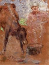 Leonardo Bazzaro, Mucca con contadina