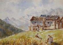 Leonardo Bazzaro, Paesaggio con case